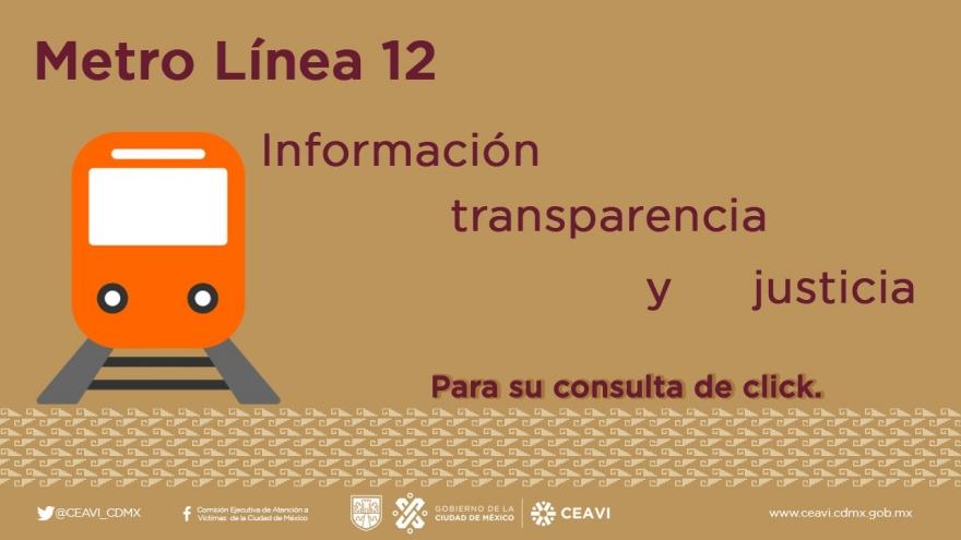 Transparencia Línea 12 del Metro